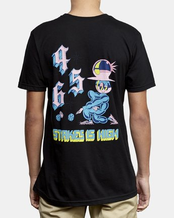 4 Dmote Stakes Is High T-Shirt Black M401WRST RVCA