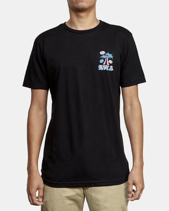2 Dmote Stakes Is High T-Shirt Black M401WRST RVCA