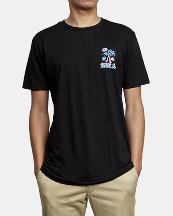 3 Dmote Stakes Is High T-Shirt Black M401WRST RVCA