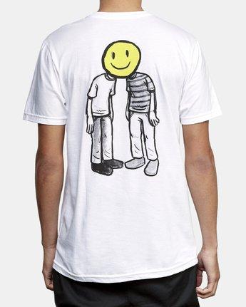 4 Andrew Pommier Twins T-Shirt White M401WRTW RVCA