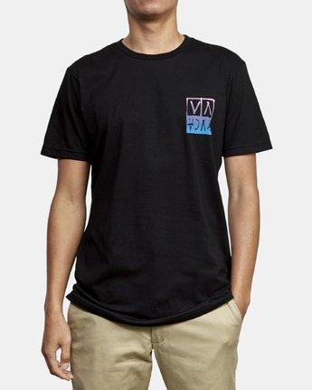 3 Unplugged T-Shirt Black M401WRUN RVCA