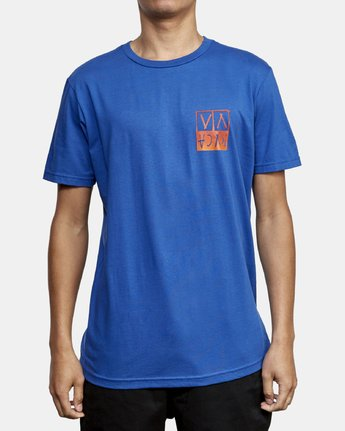 2 Unplugged T-Shirt Blue M401WRUN RVCA