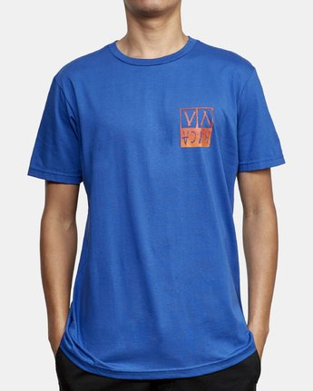3 Unplugged T-Shirt Blue M401WRUN RVCA