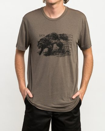 1 Ben Horton Badger T-Shirt Brown M405QRBA RVCA