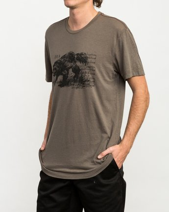 2 Ben Horton Badger T-Shirt Brown M405QRBA RVCA