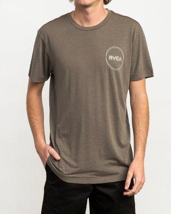 1 Tri-Motors Burnout T-Shirt Brown M405QRTR RVCA