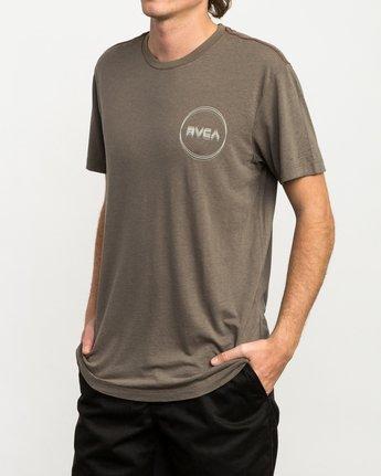 2 Tri-Motors Burnout T-Shirt Brown M405QRTR RVCA