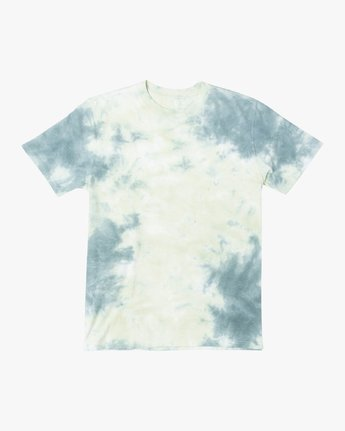 0 DAYSHIFT TIE DYE SHORT SLEEVE T-SHIRT Brown M4082RDT RVCA
