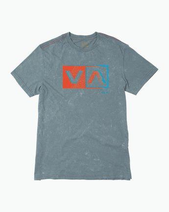 0 Static Box Acid Wash T-Shirt  M409PRST RVCA