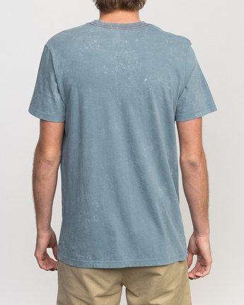 2 Static Box Acid Wash T-Shirt  M409PRST RVCA