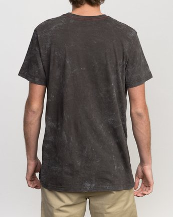 2 Static Box Acid Wash T-Shirt Black M409PRST RVCA