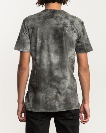 3 Center RVCA Washed T-Shirt Black M409QRCE RVCA