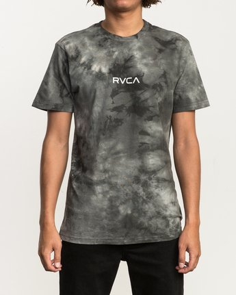 1 Center RVCA Washed T-Shirt Black M409QRCE RVCA