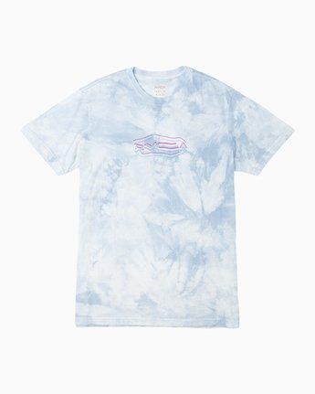1 Neon Blur Washed T-Shirt Blue M409QRNE RVCA