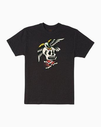 0 Bert Krak Eagle Skull T-Shirt  M410QREA RVCA
