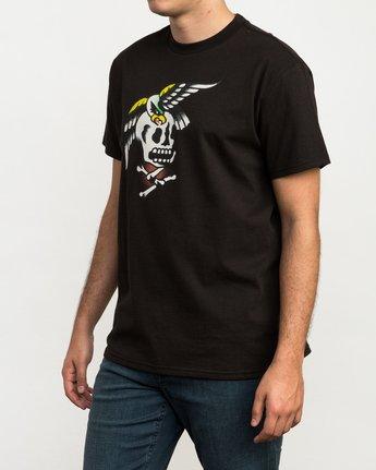 3 Bert Krak Eagle Skull T-Shirt  M410QREA RVCA