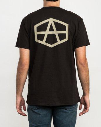 3 Andrew Reynolds Hex T-Shirt Black M410QRRE RVCA