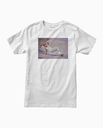 0 Christian Hosoi Oblow Layback T-Shirt White M410SRHS RVCA