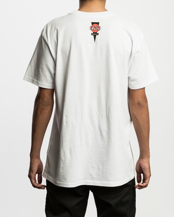 4 Christian Hosoi Oblow Layback T-Shirt White M410SRHS RVCA