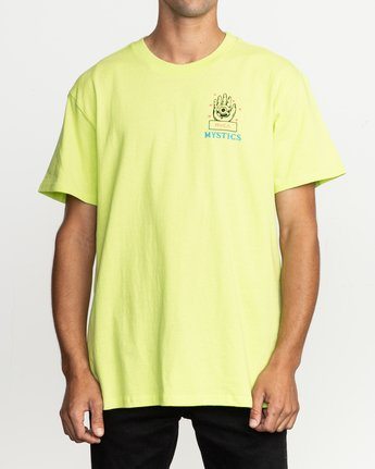 2 Dmote Psychic T-Shirt Yellow M410TRPS RVCA