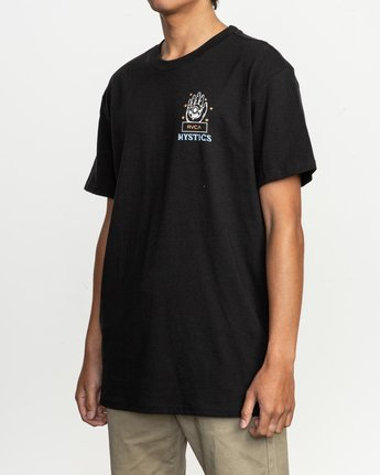 3 Dmote Psychic T-Shirt Black M410TRPS RVCA