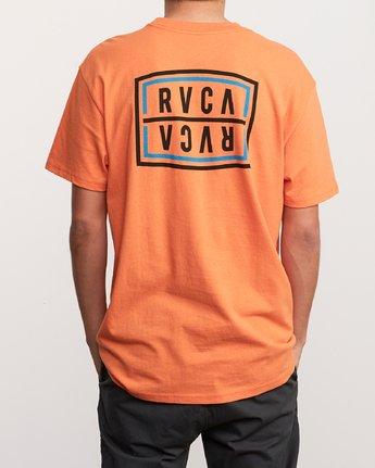 4 Flip Corpo T-Shirt Orange M410URFI RVCA