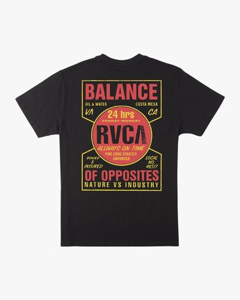 0 Insured T-Shirt Black M410URIN RVCA