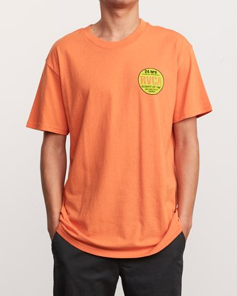 2 Insured T-Shirt Orange M410URIN RVCA