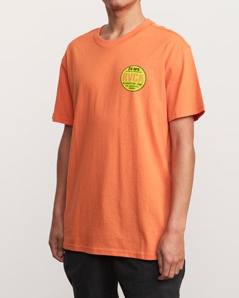 3 Insured T-Shirt Orange M410URIN RVCA