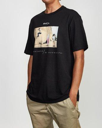 3 Balance Of Opposites Tokyo T-Shirt Black M410VRBO RVCA