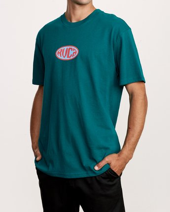 2 Slacker T-Shirt Green M410VRSL RVCA