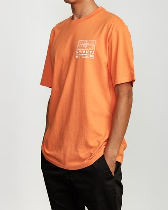 3 Super Shibuya T-Shirt Orange M410VRSS RVCA