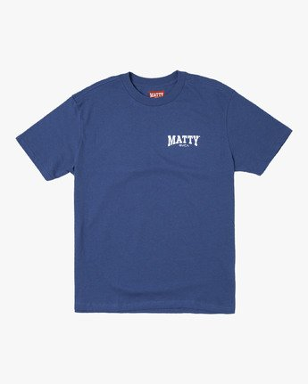 0 MATTY'S T-SHIRT Blue M410WRGM RVCA