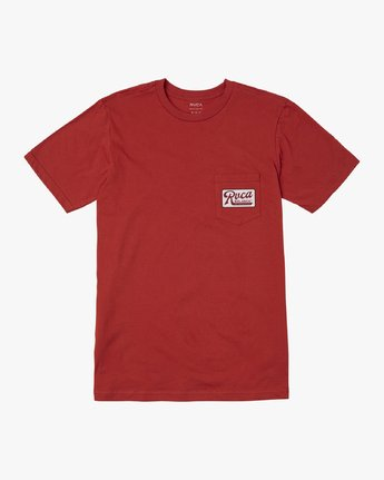 0 MUSTANG T-SHIRT Red M4121RMU RVCA