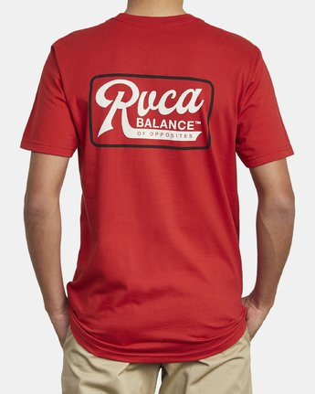 5 MUSTANG T-SHIRT Red M4121RMU RVCA