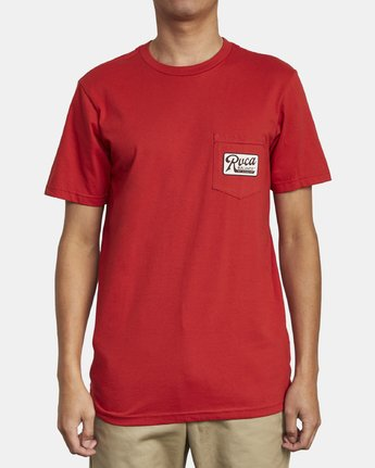 1 MUSTANG T-SHIRT Red M4121RMU RVCA