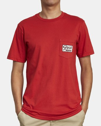 2 MUSTANG T-SHIRT Red M4121RMU RVCA
