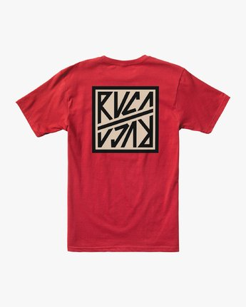 1 SEQUEL SHORT SLEEVE TEE Red M4122RSE RVCA