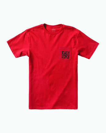 0 SEQUEL SHORT SLEEVE TEE Red M4122RSE RVCA