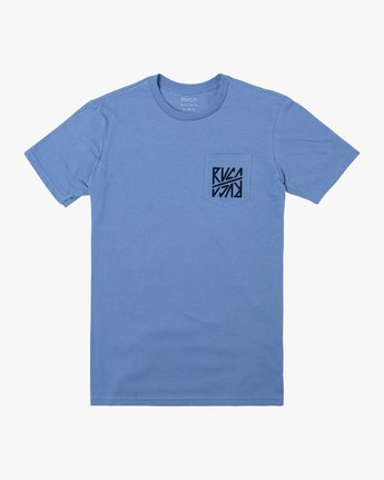 0 SEQUEL SHORT SLEEVE TEE Blue M4122RSE RVCA