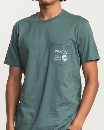 4 ANP Pocket T-Shirt Green M412SRAN RVCA