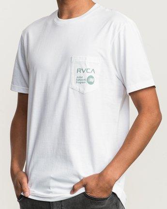 4 ANP Pocket T-Shirt White M412SRAN RVCA
