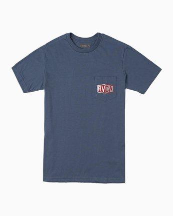 1 Carborator T-Shirt Blue M412TRCA RVCA
