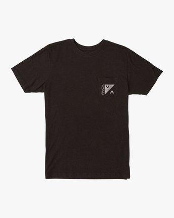 1 Check Mate Pocket T-Shirt Black M412VRCH RVCA