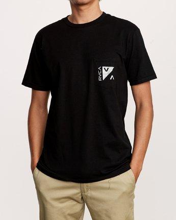 2 Check Mate Pocket T-Shirt Black M412VRCH RVCA