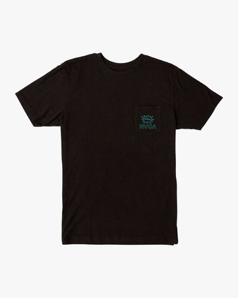 1 Pest Control Pocket T-Shirt Black M412VRPC RVCA