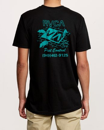 4 Pest Control Pocket T-Shirt Black M412VRPC RVCA