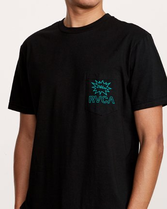 5 Pest Control Pocket T-Shirt Black M412VRPC RVCA