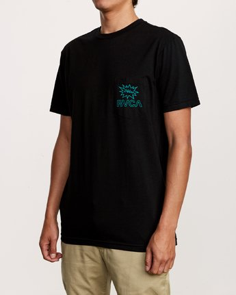 3 Pest Control Pocket T-Shirt Black M412VRPC RVCA