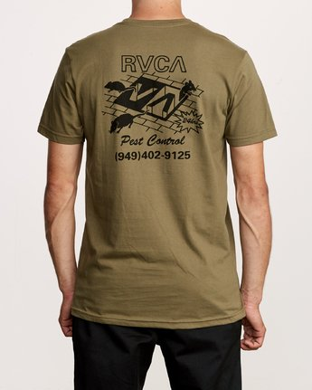4 Pest Control Pocket T-Shirt Green M412VRPC RVCA